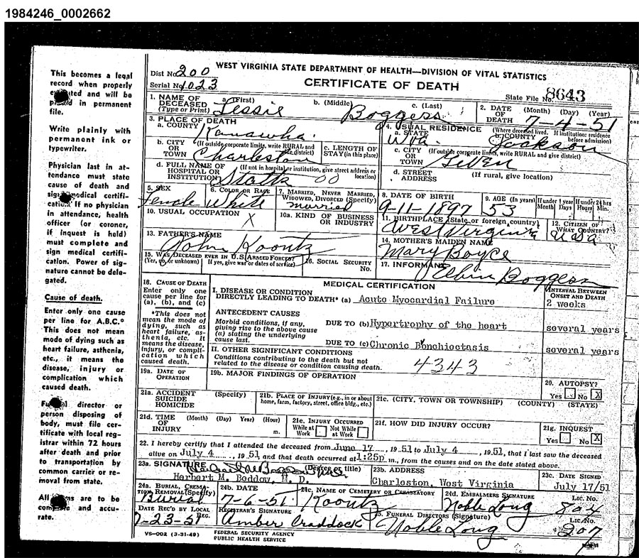 Virginia Divorce Records: West Virginia Cemetery Preservation Association:Koontz