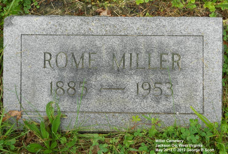 West Virginia Cemetery Preservation Association:Miller ...