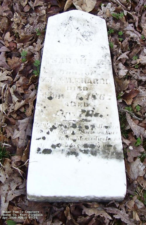 West Virginia Cemetery Preservation Association: Baker