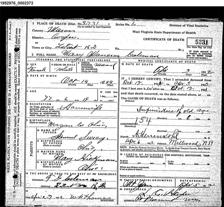 Virginia Divorce Records: West Virginia Cemetery Preservation Association:Mt Zion