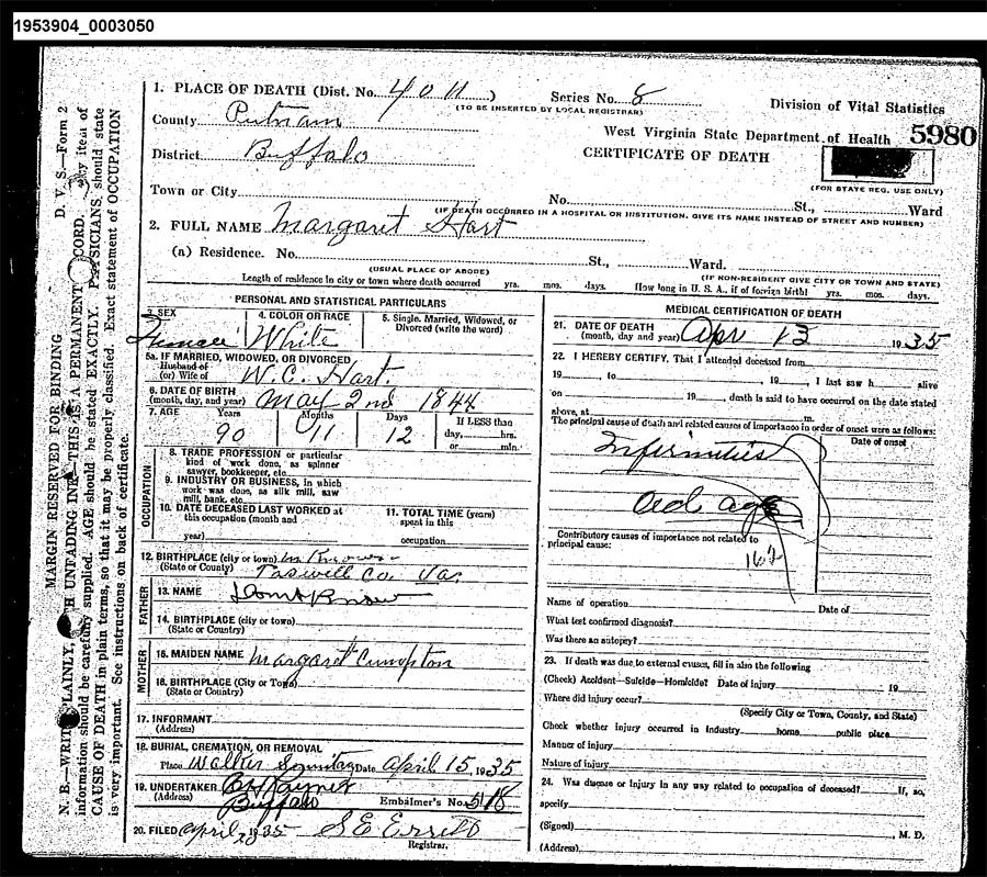 Virginia Divorce Records: West Virginia Cemetery Preservation Association:Walker